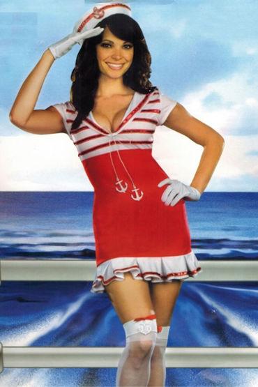 Le Frivole Sassy Sailor Кокетливое мини-платье и шапочка