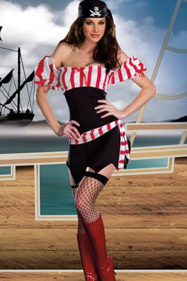 Le Frivole Ships Ahoy Эротичное платье с поясом и платок