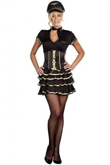 Le Frivole Miss Frieda Mingle Мини-платье, платок на шею и фуражка