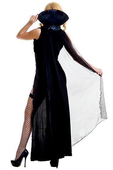 Le Frivole Темный Вампир Платье, накидка с воротником, жилетка и манжеты