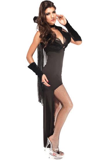 Le Frivole Темный Вампир, Платье, накидка с воротником, жилетка и манжеты - Размер S-M