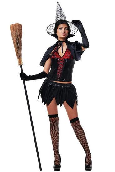 Le Frivole Таинственная Ведьма, Корсет, юбка, накидка, перчатки, чулки и шляпа - Размер S-M