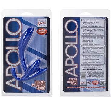 California Exotic Apollo Curved Prostate Probes, синий Стимулятор простаты