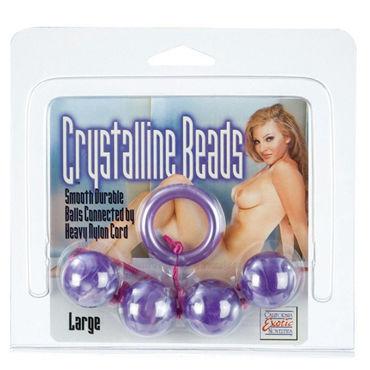 California Exotic Crystalline Beads Large, фиолетовый Анальная цепочка увеличенного диаметра