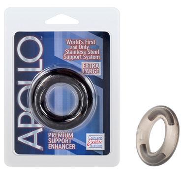 California Exotic Apollo Premium Support Enhancers Extra Large, серое Эрекционное кольцо большого размера
