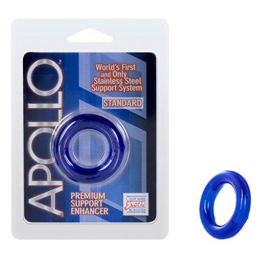 California Exotic Apollo Premium Support Enhancers Standard, синее Эрекционное кольцо стандартного размера