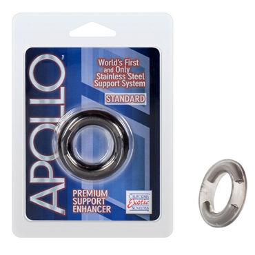 California Exotic Apollo Premium Support Enhancers Standard, серое Эрекционное кольцо стандартного размера