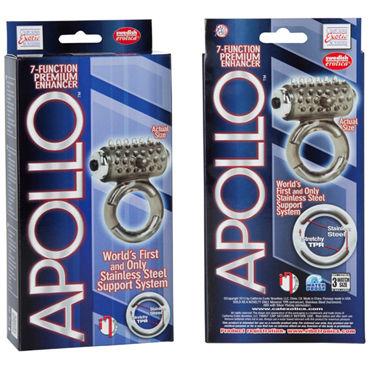 California Exotic Apollo Premium Enhancers, серое Эрекционное кольцо с вибрацией