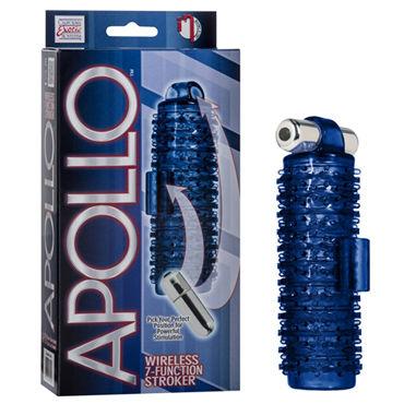 California Exotic Apollo Wireless 7-Function Strokers, синий Двухсторонний мастурбатор с вибрацией