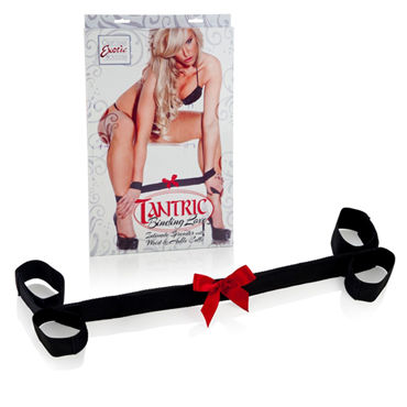 California Exotic Tantric Binding Love Intimate Spreader with Wrist & Ankle Cuffs, Аксессуар для фиксации рук и ног