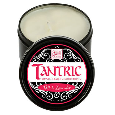 California Exotic Tantric White Lavender, 160 гр, Массажная свеча с феромонами, с ароматом белой лаванды