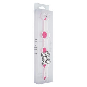 Toy Joy Funky Butt Beads, розовая Анальная цепочка