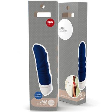 Fun Factory Jam, синий Компактный водонепроницаемый массажер для стимуляции эрогенных зон