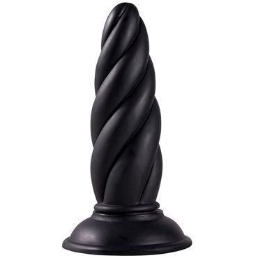 Menzstuff Twisted Probe, черный Анальная пробка витой формы