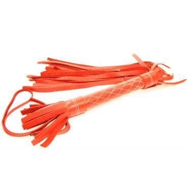 BDSM Арсенал плетка, красная, С мягкими шнурами