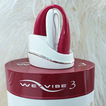 We-Vibe 3, темно-розовый Радиоуправляемый вибратор для стимуляции во время секса