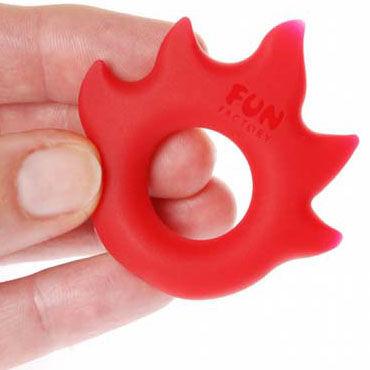 Fun Factory LoveRing Flame, красный Упругое и эластичное эрекционное кольцо