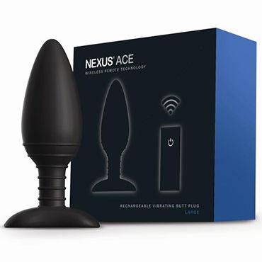 Nexus Ace L, 14 см Перезаряжаемая анальная втулка с пультом ДУ