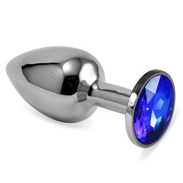 LoveToy Small, синий Серебряная втулка с синим кристаллом