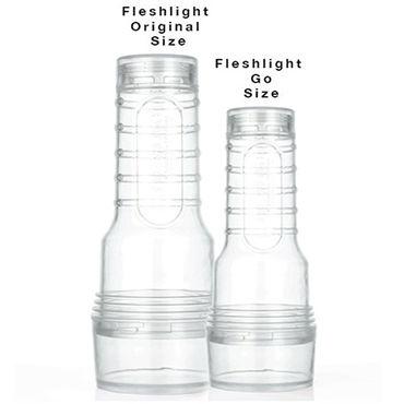 FleshLight Go Torque Компактный прозрачный мастурбатор с уникальным рельефом