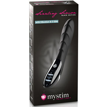 Mystim Sizzling Simon E-Stim Vibe Black Edition Вибратор для электростимуляции в новом цвете