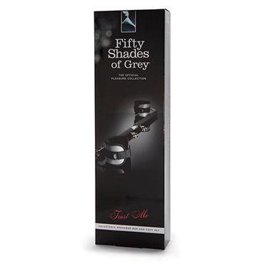 Fifty Shades of Grey Trust Me Adjustable Spreader Bar and Cuff Set Распорка для фиксации с мягкими манжетами
