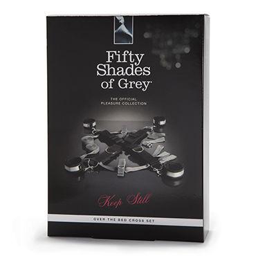 Fifty Shades of Grey Keep Still Over the Bed Cross Restraint Набор для фиксации на кровати со съемными манжетами