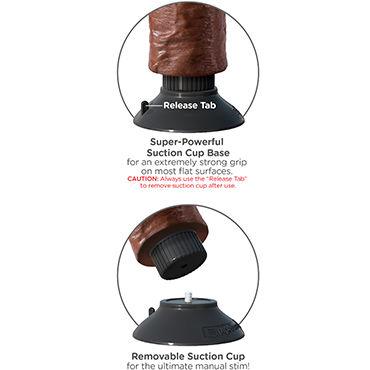 Pipedream Vibrating King Cock 20 см, коричневый Реалистичный вибратор на присоске
