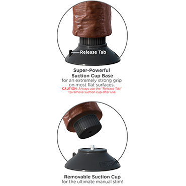 Pipedream Vibrating King Cock 18 см, коричневый Реалистичный вибратор на присоске