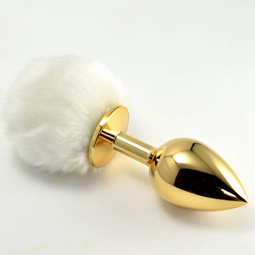 Lovetoy Tail Rabbit Small, золотая С белым хвостиком
