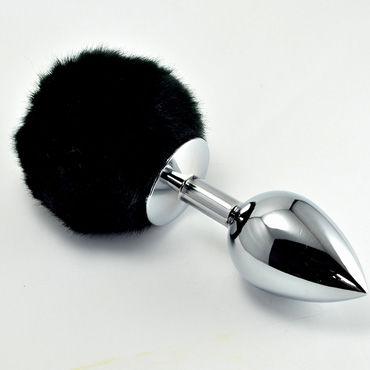 Lovetoy Tail Rabbit Small, серебряная С черным хвостиком