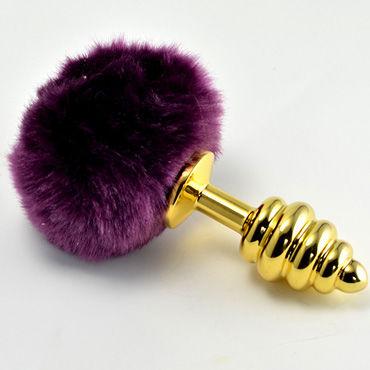 Lovetoy Tail Rabbit Spiral, золотая С фиолетовым хвостиком