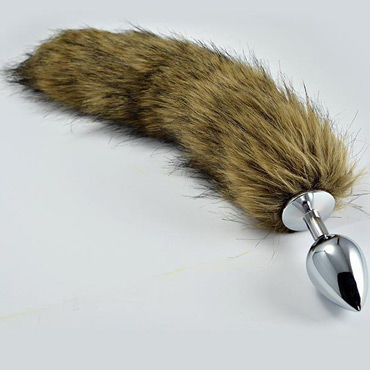 Lovetoy Tail Large, серебряная Втулка с волчьим хвостом
