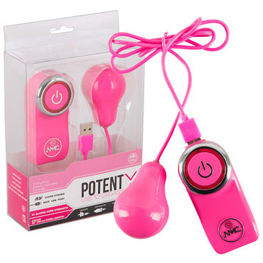 NMC Potent X, розовое Виброяйцо