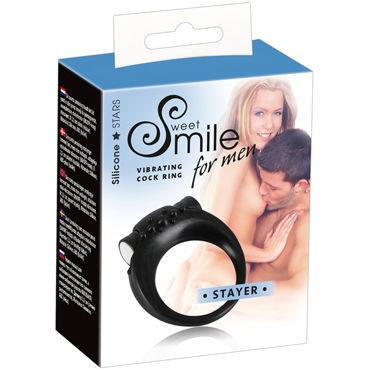 Smile for Men Stayer, черное Виброкольцо для пениса