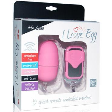 LoveToy I Love Egg, розовое Виброяйцо среднее