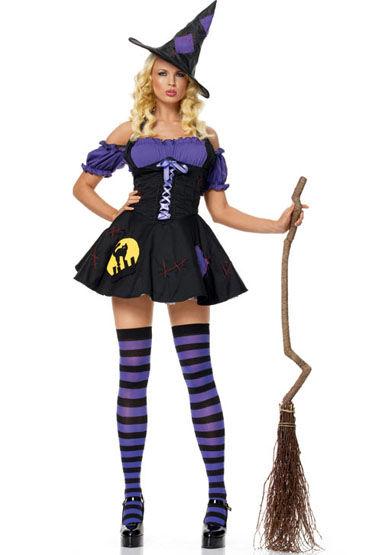 Le Frivole Ночная ведьмочка, Платье и шляпка - Размер S-M от condom-shop.ru