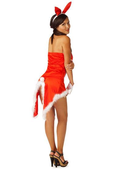 Le Frivole Пушистый зайка, красный Платье, ушки, воротник и манжеты