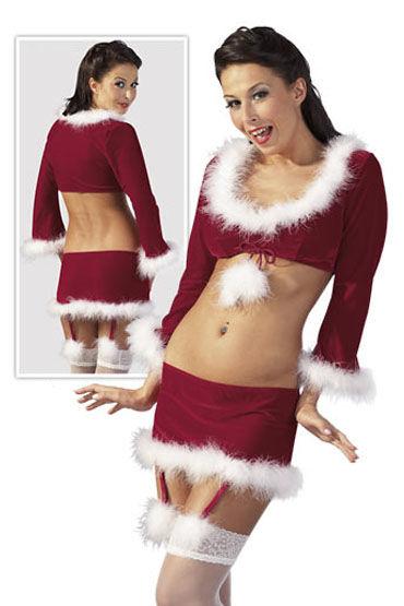 Cottelli Рождественский бело-красный Эротический костюм