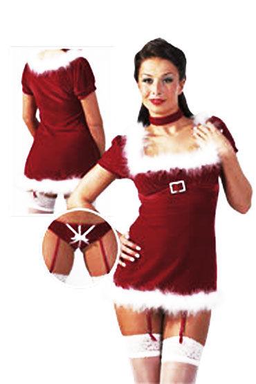 Cottelli Рождественское Платье бело-красный Эротический костюм
