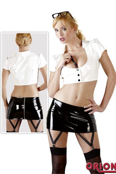 Cotelli Секретарша черно-белый Эротический костюм