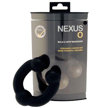 Nexus O Max, черный Большой стимулятор простаты с фиксацией