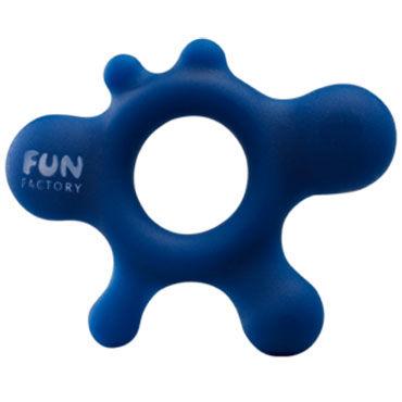 Fun Factory LoveRing Rain, синий, Эрекционное кольцо оригинальной формы
