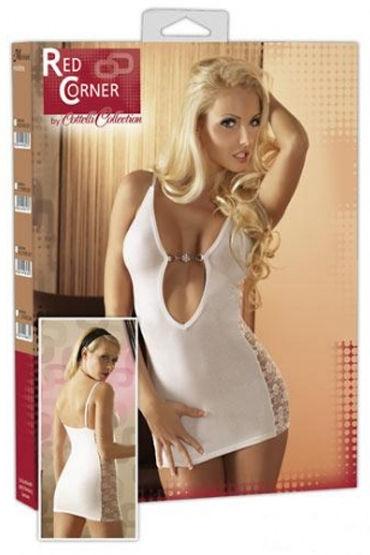 Cottelli мини-платье, белое С ажурными вставками по бокам