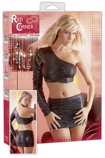 Cottelli комплект топ и юбка, серый Сексапильный наряд для горячих девушек