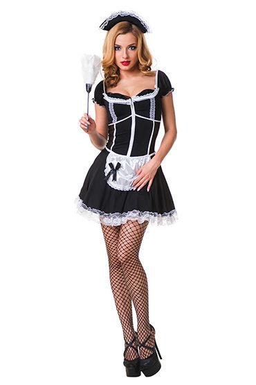 Le Frivole Роковая служанка Мини-платье с фартучком и чепчик