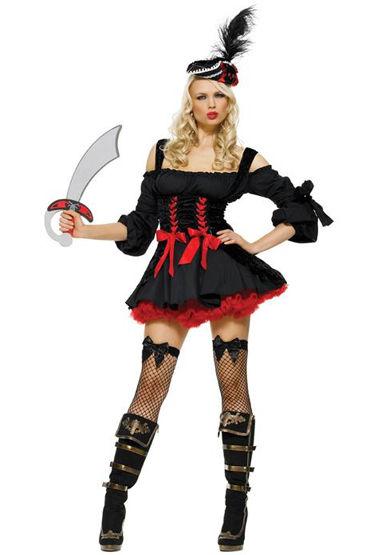 Le Frivole Черный пират Платье и шляпка с пером