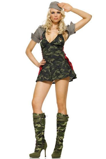 Le Frivole Боевая подруга, Платье, жакет и головной убор - Размер S-M от condom-shop.ru