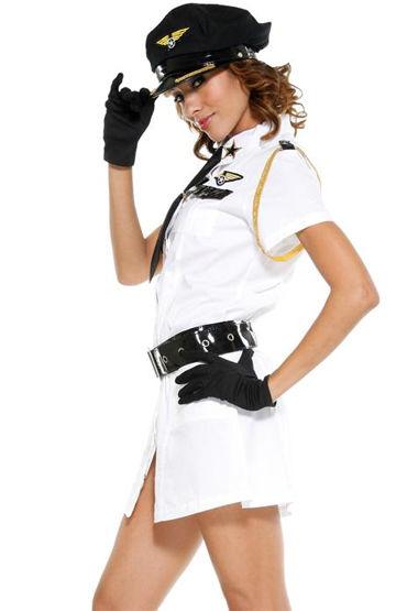 Le Frivole Военная авиация Платье, ремень, перчатки и галстук