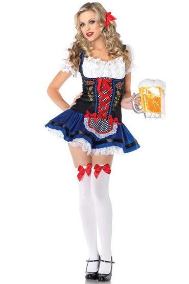 Le Frivole Австрийская баварочка Яркое платье со шнуровкой